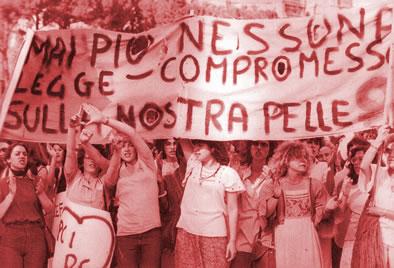 manifestazione femminista 1976