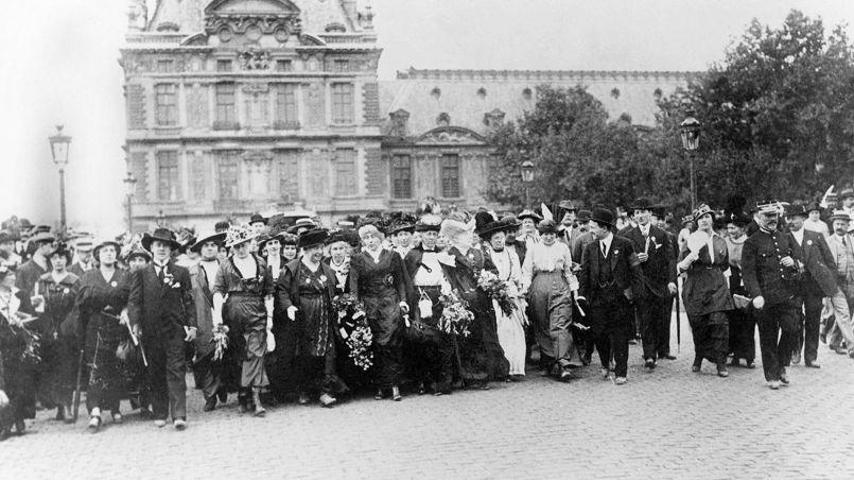 Dimostrazione femminista 1914