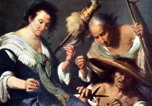 Le tre Parche - Bernardo Strozzi