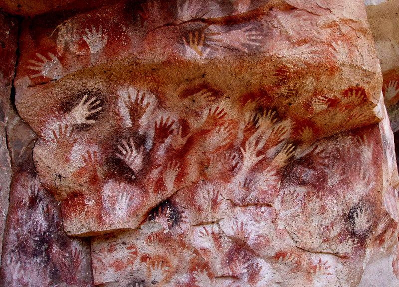 La grotta delle mani - Santa Cruz